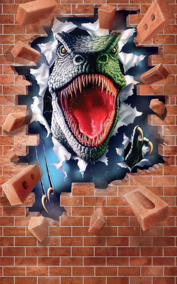 Fototapeta 6 panel Řev Dinosaura