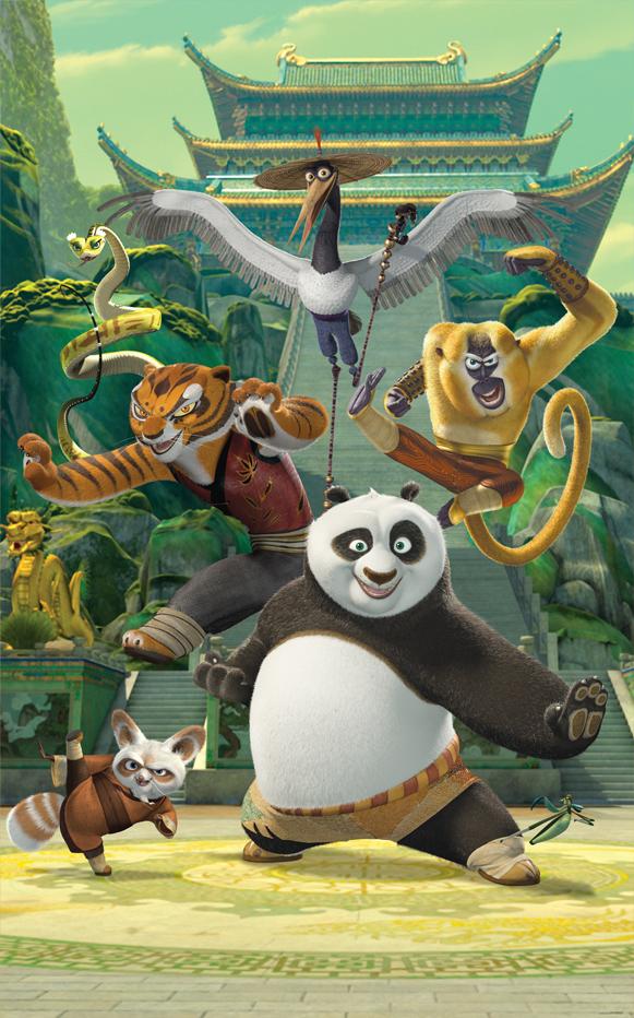 Fototapeta 6 panel Kung Fu Panda