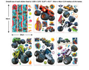 Blaze Stickers Room Decor Kit – 44548
