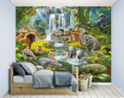 Jungle Adventure Mural Bedroom Scene – 46481