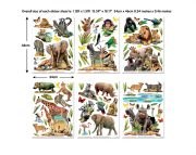 Jungle Safari Room Decor Kit Stickers 45439