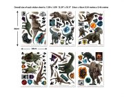 Jurassic World Fallen Kingdom Room Decor Kit Sticker Sheets 45712