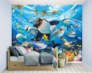 Sea Adventure Wall Mural Bedroom Scene 45279