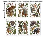 Dinosaur Land Room Decor Kit Stickers 46535