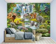 Jungle Adventure Mural Bedroom Scene – 46481
