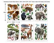 Jungle Adventure Room Decor Kit Stickers 46528