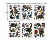 Jurassic World Fallen Kingdom Room Decor Kit Sticker Sheets 45712