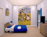 Madagascar mural Bedroom Scene