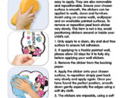 Minnie Mouse Wall Sticker Instructions 45538