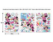 Minnie Mouse Wall Sticker Sheets 45538