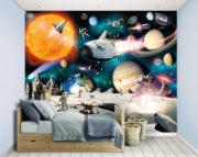 Space Adventure Wall Mural Bedroom Scene – 46511