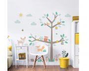 Woodland Tree & Friends Large Character Sticker Bedroom Scene – 44647